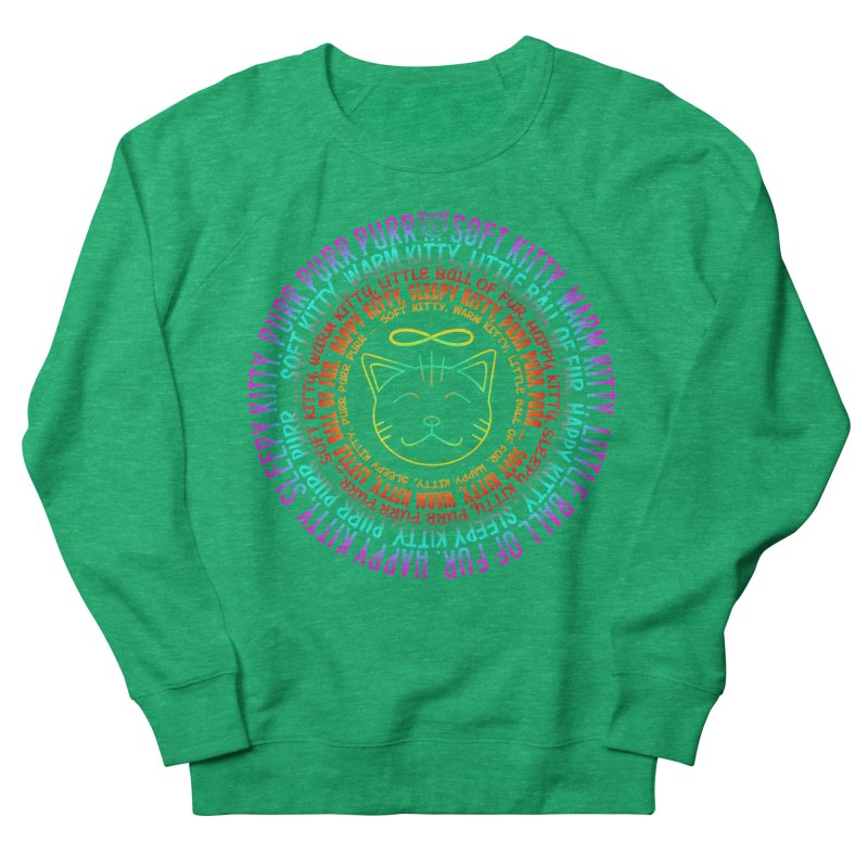 Theoretical Physics Nerd - Soft Kitty Song - neon Men's French Terry Sweatshirt by EDDArts Shop