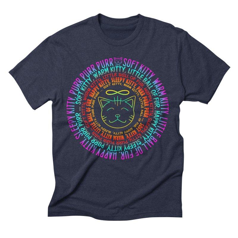 Theoretical Physics Nerd - Soft Kitty Song - neon Men's Triblend T-Shirt by EDDArts Shop