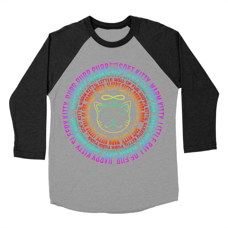 Theoretical Physics Nerd - Soft Kitty Song - neon Women's Baseball Triblend Longsleeve T-Shirt by EDDArts Shop