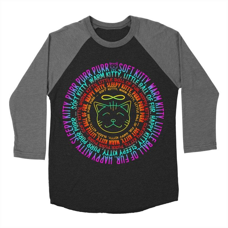 Theoretical Physics Nerd - Soft Kitty Song - neon Men's Baseball Triblend Longsleeve T-Shirt by EDDArts Shop