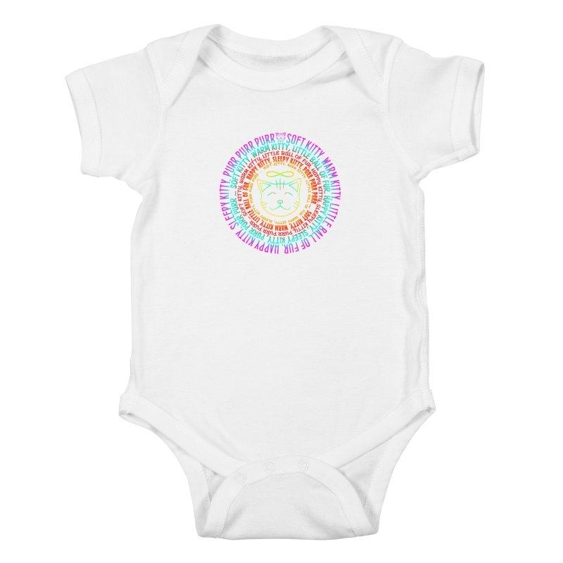 Theoretical Physics Nerd - Soft Kitty Song - neon Kids Baby Bodysuit by EDDArts Shop