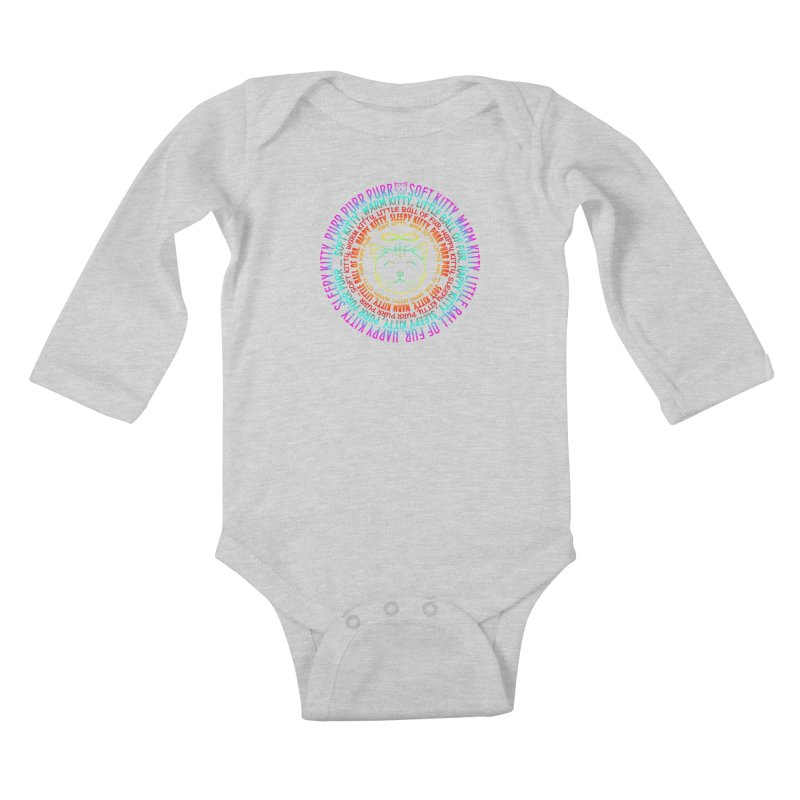 Theoretical Physics Nerd - Soft Kitty Song - neon Kids Baby Longsleeve Bodysuit by EDDArts Shop