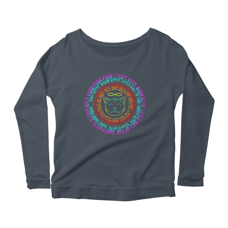 Theoretical Physics Nerd - Soft Kitty Song - neon Women's Longsleeve Scoopneck  by EDDArts Shop