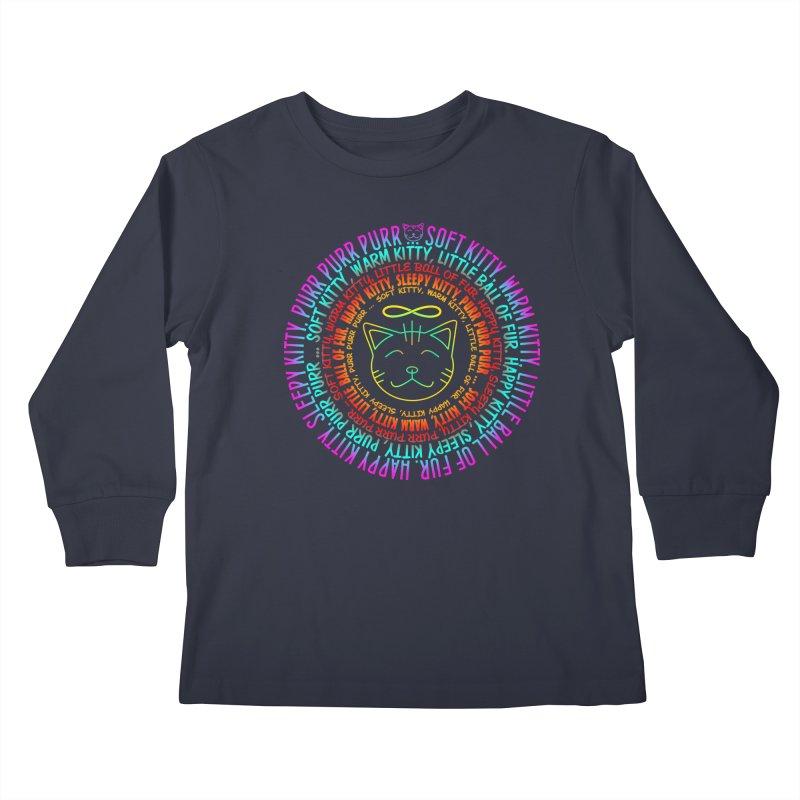 Theoretical Physics Nerd - Soft Kitty Song - neon Kids Longsleeve T-Shirt by EDDArts Shop