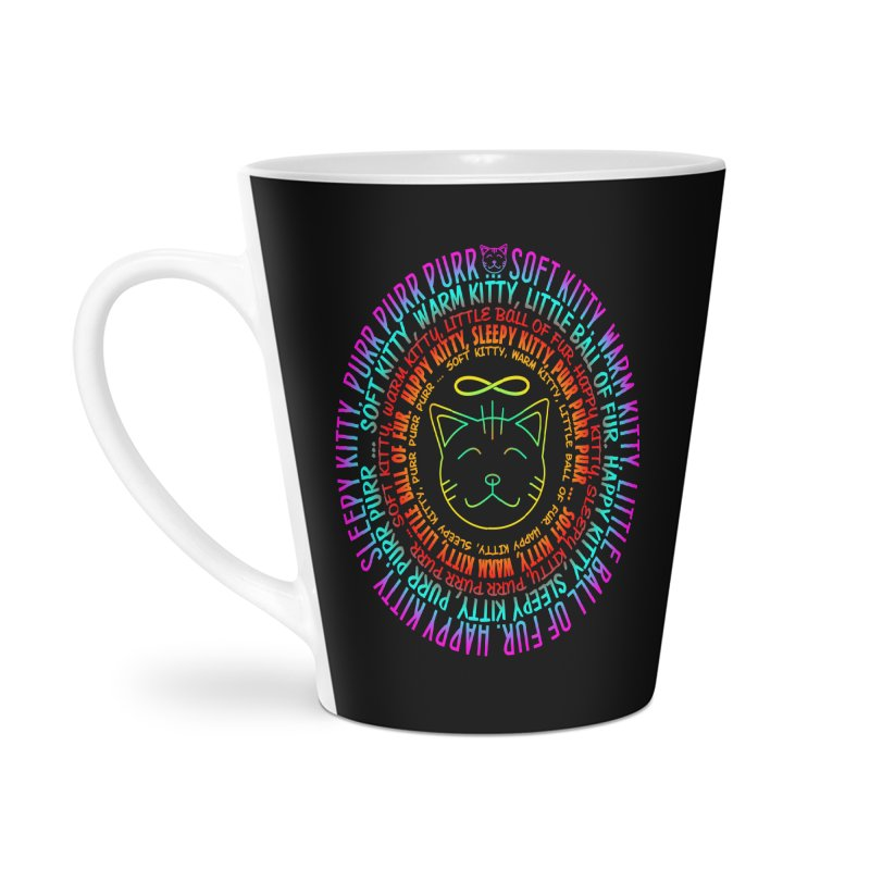 Theoretical Physics Nerd - Soft Kitty Song - neon Accessories Latte Mug by EDDArts Shop