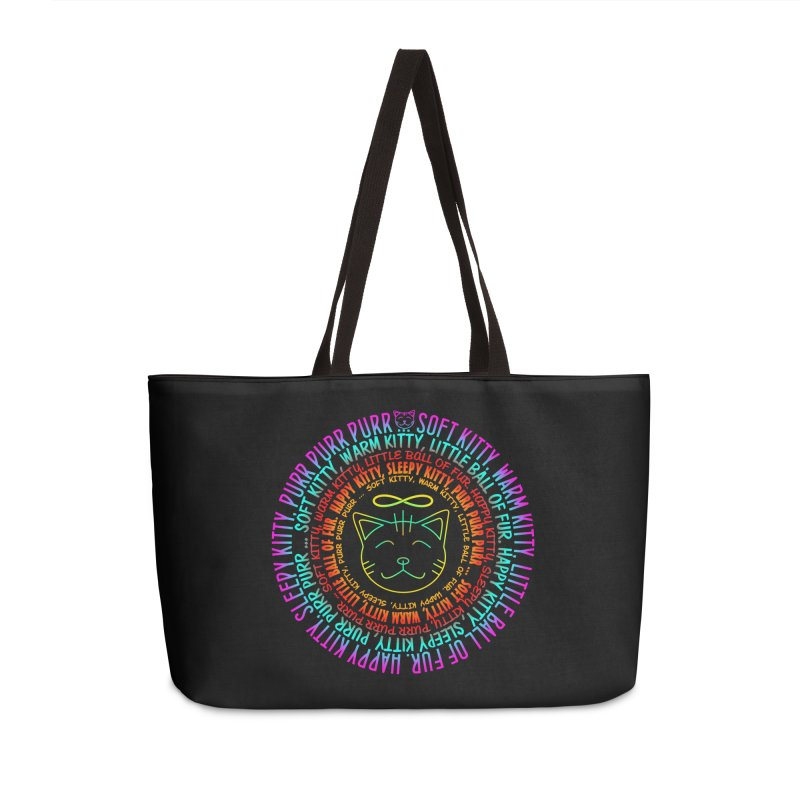 Theoretical Physics Nerd - Soft Kitty Song - neon Accessories Weekender Bag Bag by EDDArts Shop