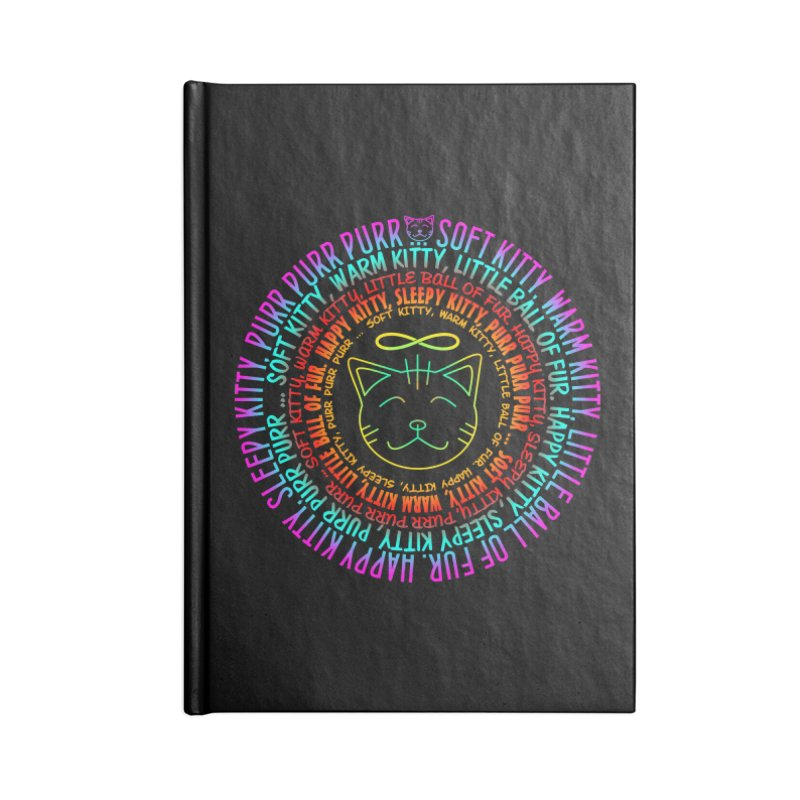 Theoretical Physics Nerd - Soft Kitty Song - neon Accessories Blank Journal Notebook by EDDArts Shop