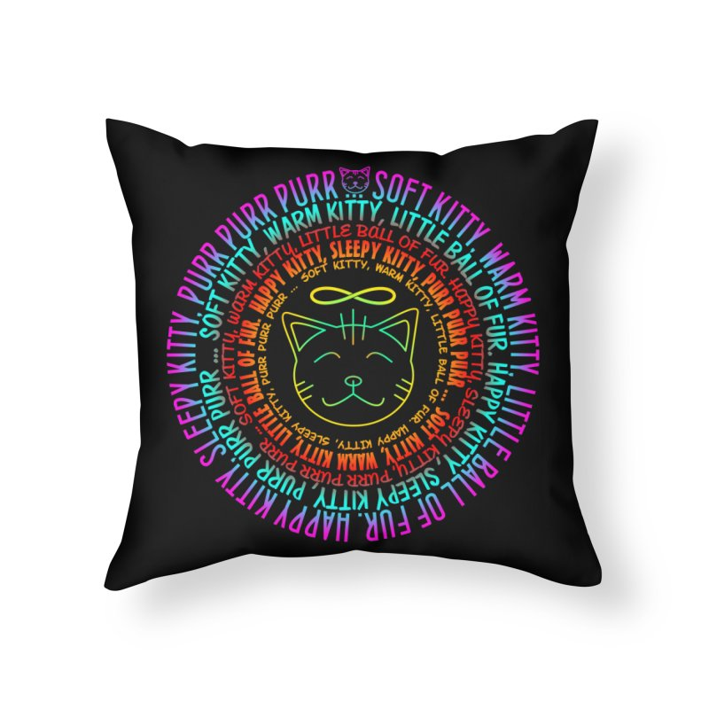 Theoretical Physics Nerd - Soft Kitty Song - neon Home Throw Pillow by EDDArts Shop