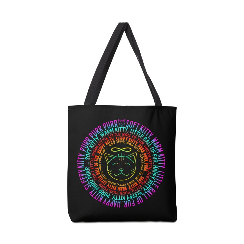 Theoretical Physics Nerd - Soft Kitty Song - neon Accessories Bag by EDDArts Shop