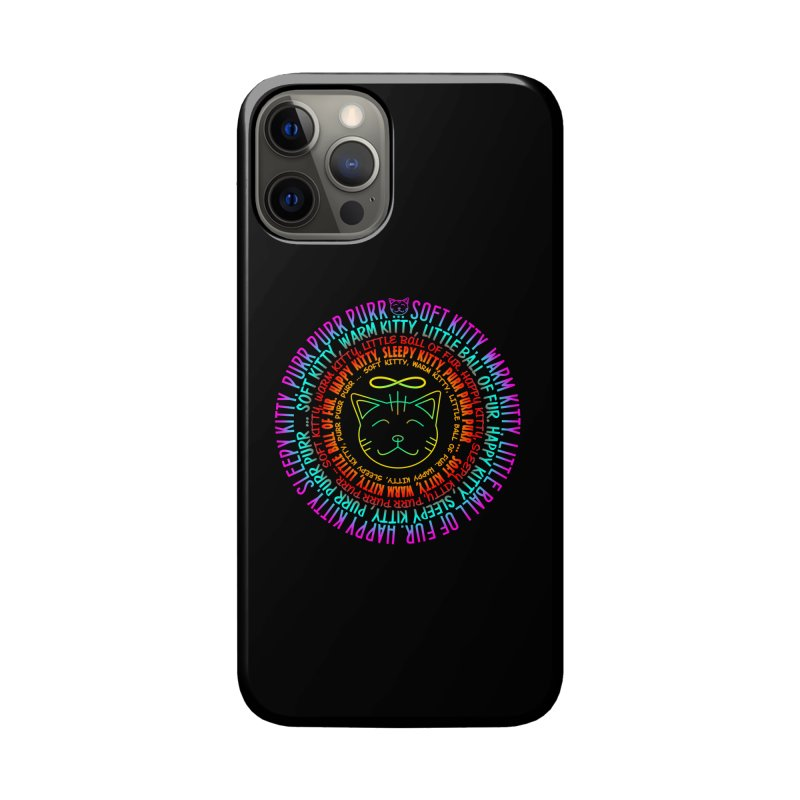Theoretical Physics Nerd - Soft Kitty Song - neon Accessories Phone Case by EDDArts Shop