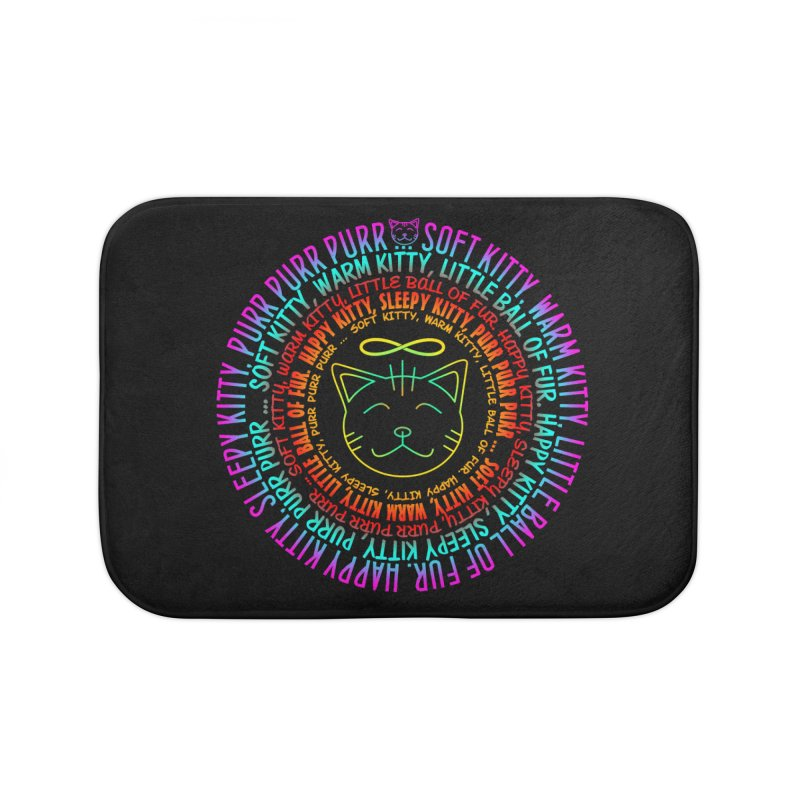 Theoretical Physics Nerd - Soft Kitty Song - neon Home Bath Mat by EDDArts Shop