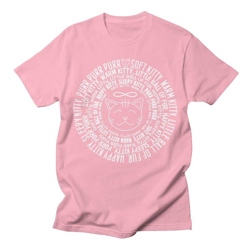 Theoretical Physics Nerd - Soft Kitty Song - white Men's T-Shirt by EDDArts Shop
