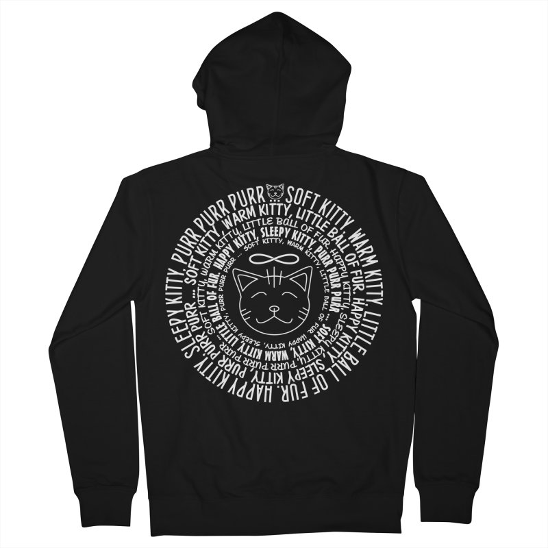 Theoretical Physics Nerd - Soft Kitty Song - white Men's French Terry Zip-Up Hoody by EDDArts Shop
