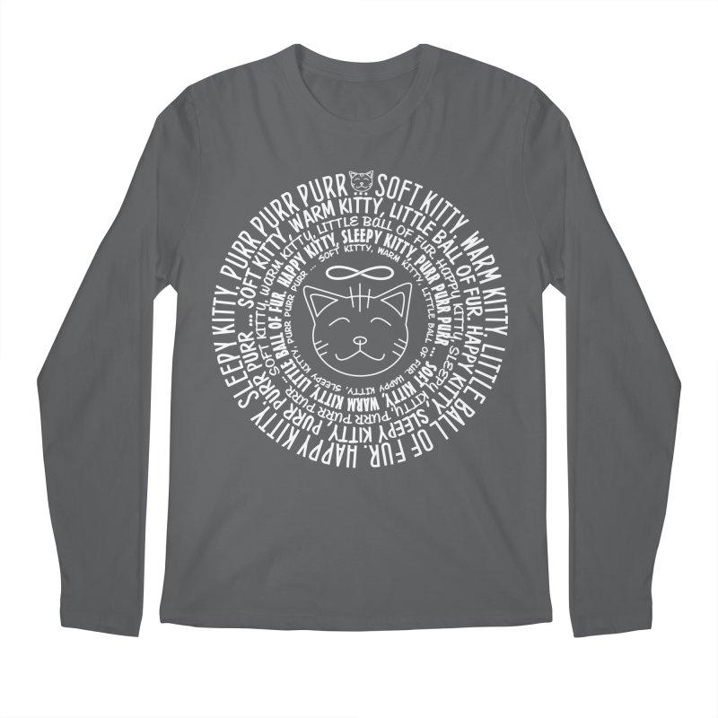 Theoretical Physics Nerd - Soft Kitty Song - white Men's Longsleeve T-Shirt by EDDArts Shop