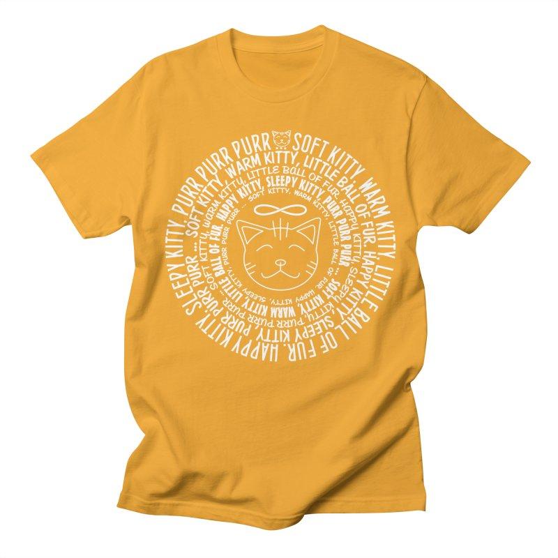 Theoretical Physics Nerd - Soft Kitty Song - white Men's Regular T-Shirt by EDDArts Shop