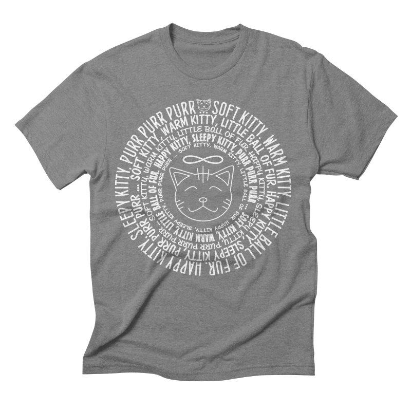 Theoretical Physics Nerd - Soft Kitty Song - white Men's Triblend T-Shirt by EDDArts Shop