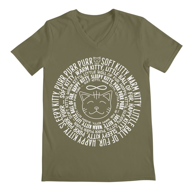 Theoretical Physics Nerd - Soft Kitty Song - white Men's Regular V-Neck by EDDArts Shop