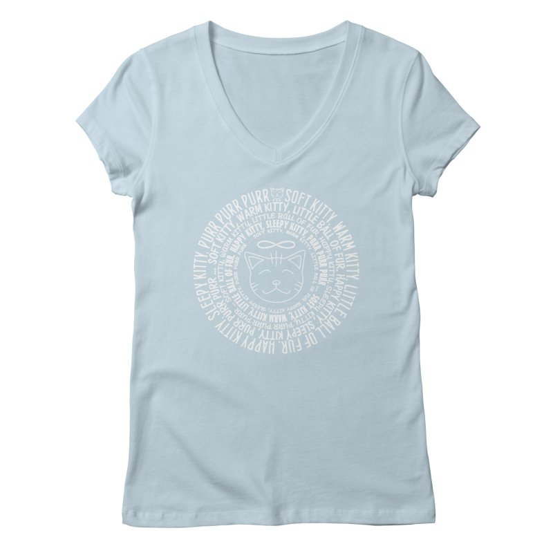 Theoretical Physics Nerd - Soft Kitty Song - white Women's Regular V-Neck by EDDArts Shop