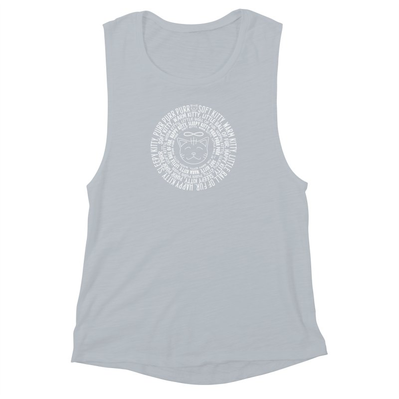 Theoretical Physics Nerd - Soft Kitty Song - white Women's Muscle Tank by EDDArts Shop