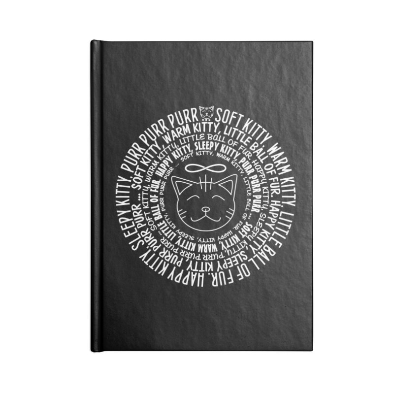 Theoretical Physics Nerd - Soft Kitty Song - white Accessories Blank Journal Notebook by EDDArts Shop