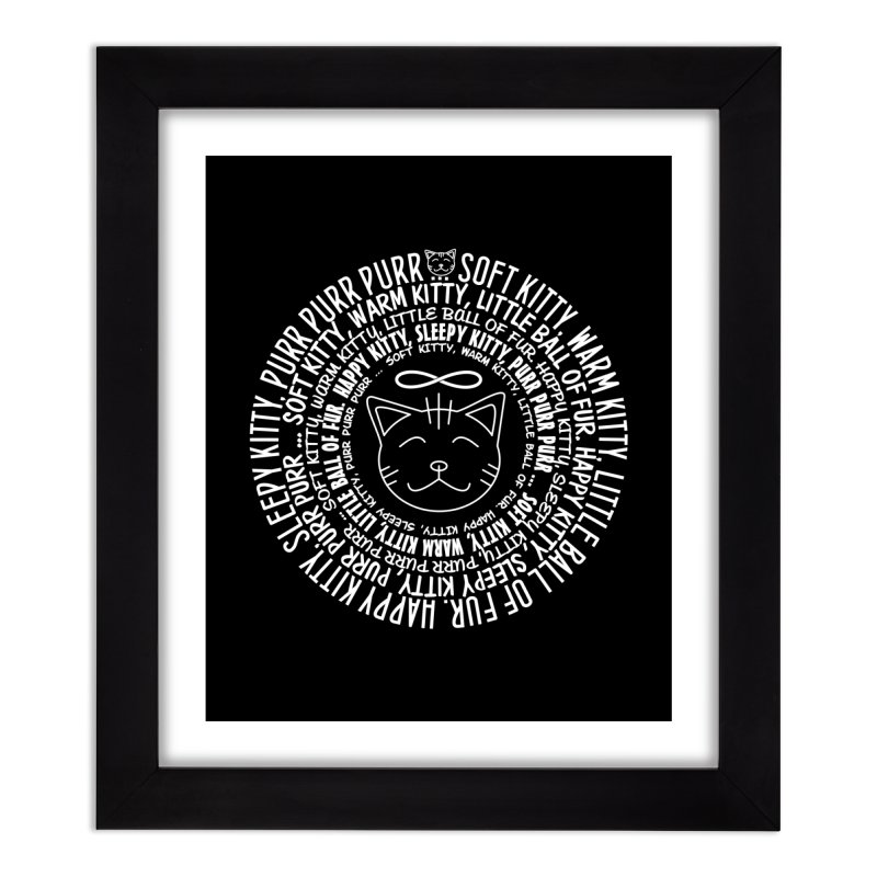 Theoretical Physics Nerd - Soft Kitty Song - white Home Framed Fine Art Print by EDDArts Shop
