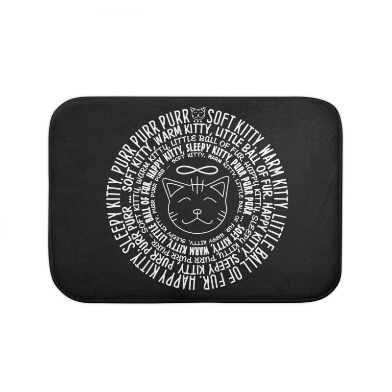 Theoretical Physics Nerd - Soft Kitty Song - white Home Bath Mat by EDDArts Shop