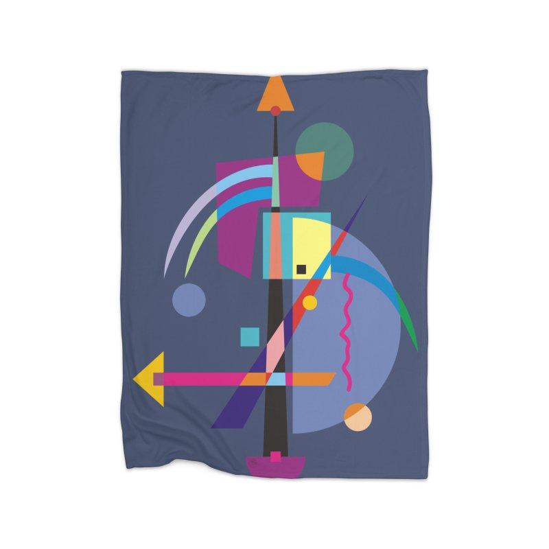 Art Of Facelifing By EDDArt - blue background Home Blanket by EDDArts Shop