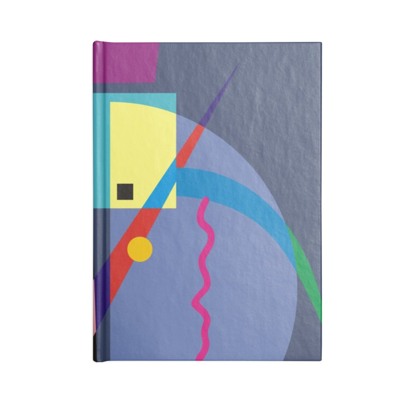Art Of Facelifing By EDDArt - blue background Accessories Lined Journal Notebook by EDDArts Shop