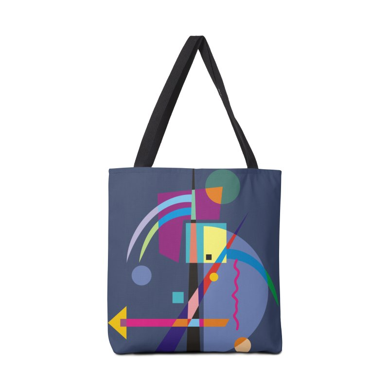Art Of Facelifing By EDDArt - blue background Accessories Bag by EDDArts Shop