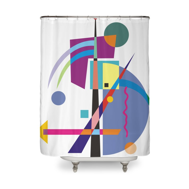 Art Of Facelifing By EDDArt - white background Home Shower Curtain by EDDArts Shop