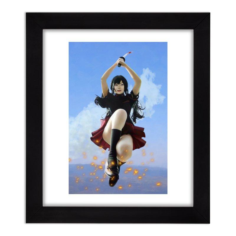 STRIKE !! Home Framed Fine Art Print by Eddie Christian's Artist Shop
