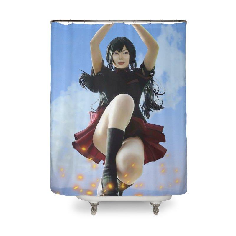 STRIKE !! Home Shower Curtain by Eddie Christian's Artist Shop