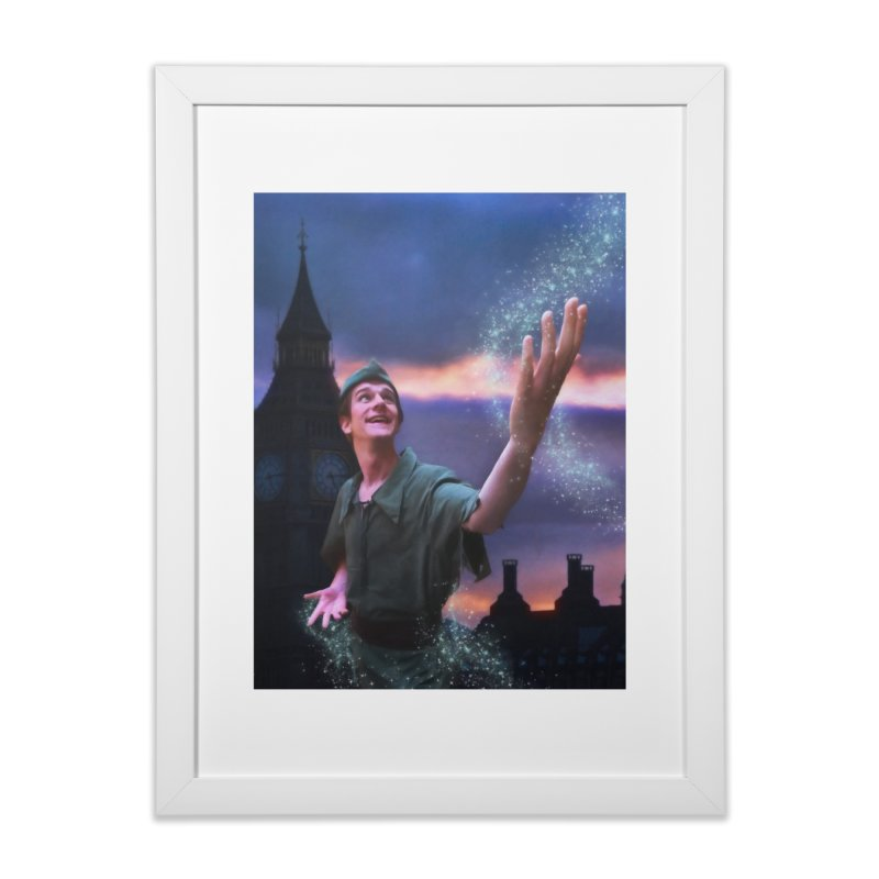 CHASING TINKER BELL Home Framed Fine Art Print by Eddie Christian's Artist Shop