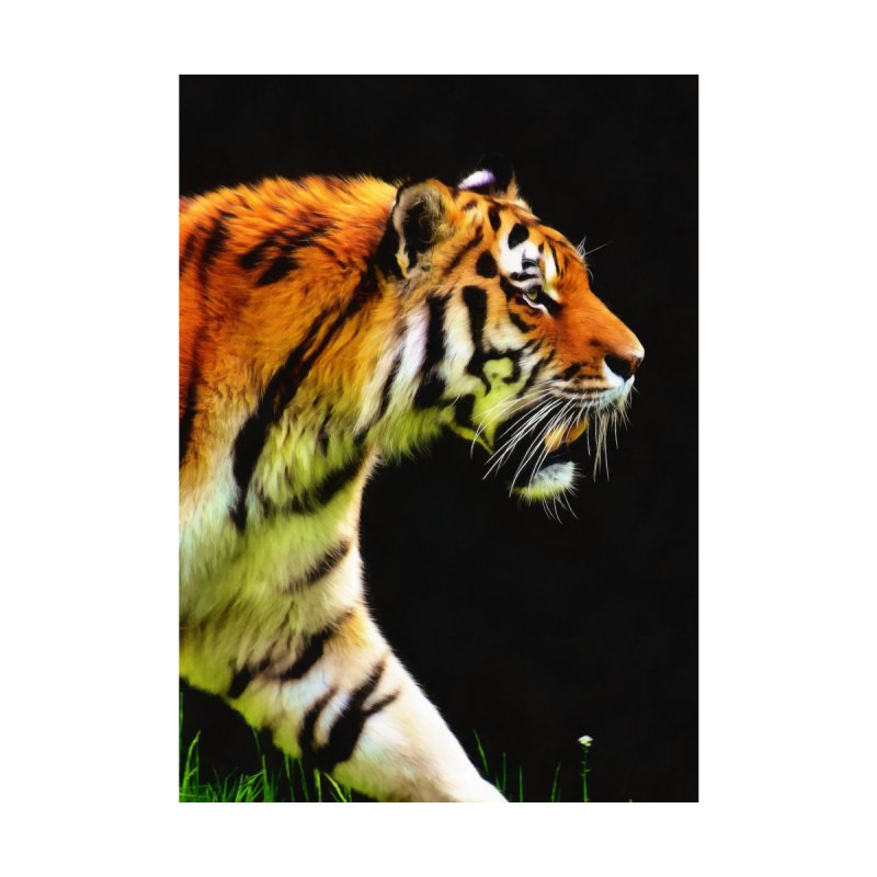 EDDIE'S TIGER Home Bath Mat by Eddie Christian's Artist Shop