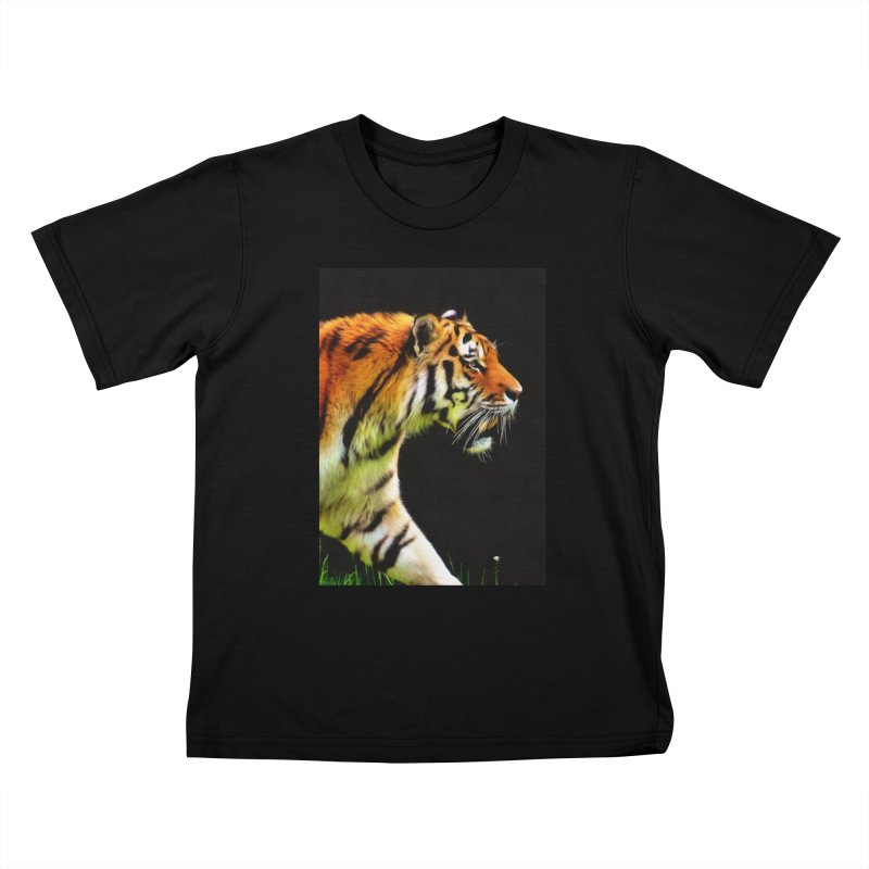 EDDIE'S TIGER Kids T-Shirt by Eddie Christian's Artist Shop
