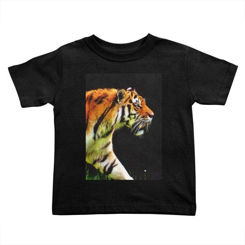 EDDIE'S TIGER Kids Toddler T-Shirt by Eddie Christian's Artist Shop