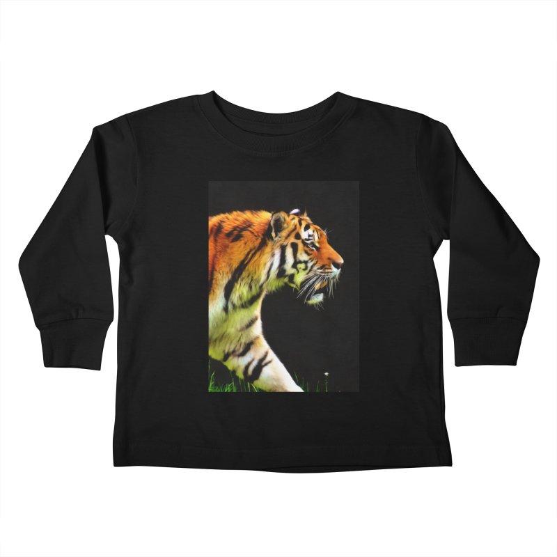 EDDIE'S TIGER Kids Toddler Longsleeve T-Shirt by Eddie Christian's Artist Shop