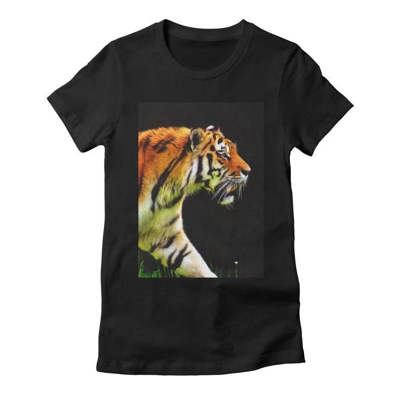 EDDIE'S TIGER Women's T-Shirt by Eddie Christian's Artist Shop