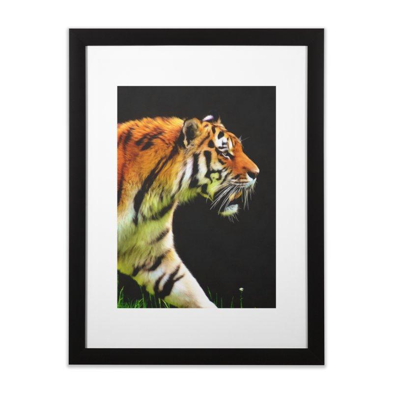 EDDIE'S TIGER Home Framed Fine Art Print by Eddie Christian's Artist Shop