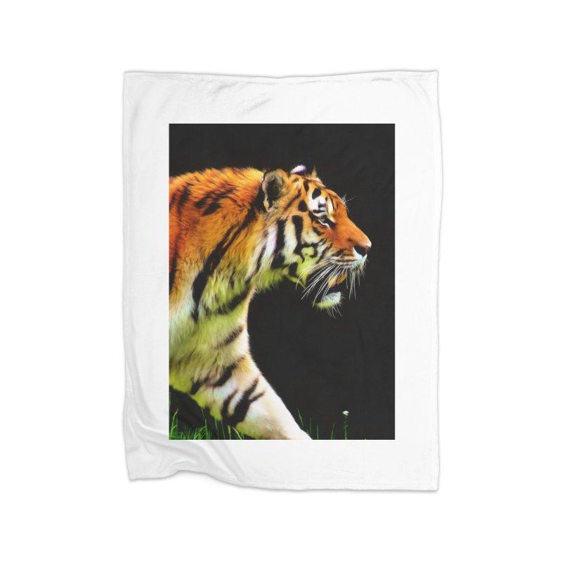 EDDIE'S TIGER Home Blanket by Eddie Christian's Artist Shop