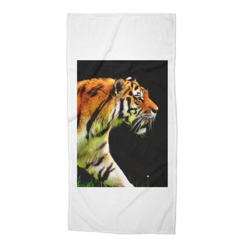 EDDIE'S TIGER Accessories Beach Towel by Eddie Christian's Artist Shop