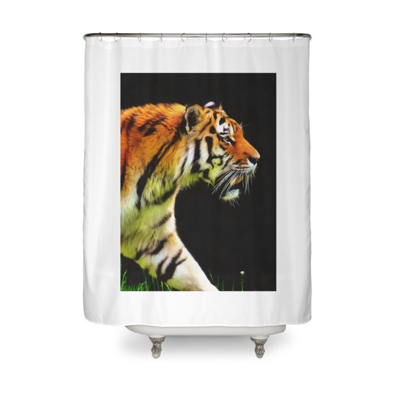 EDDIE'S TIGER Home Shower Curtain by Eddie Christian's Artist Shop