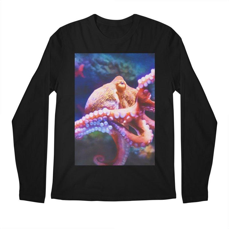 RAINBOW OCTOPUS Men's Longsleeve T-Shirt by Eddie Christian's Artist Shop
