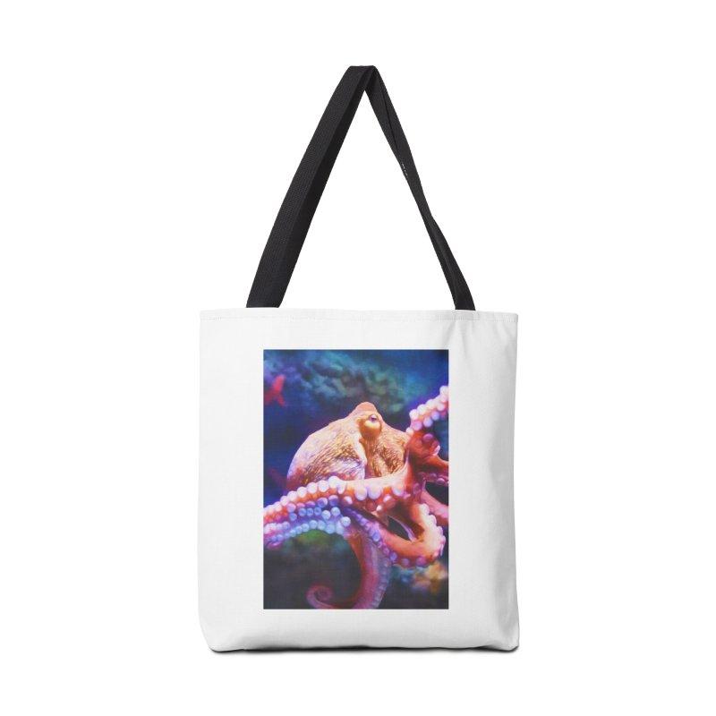 RAINBOW OCTOPUS Accessories Bag by Eddie Christian's Artist Shop