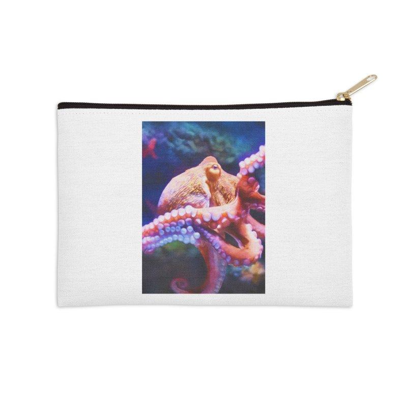 RAINBOW OCTOPUS Accessories Zip Pouch by Eddie Christian's Artist Shop
