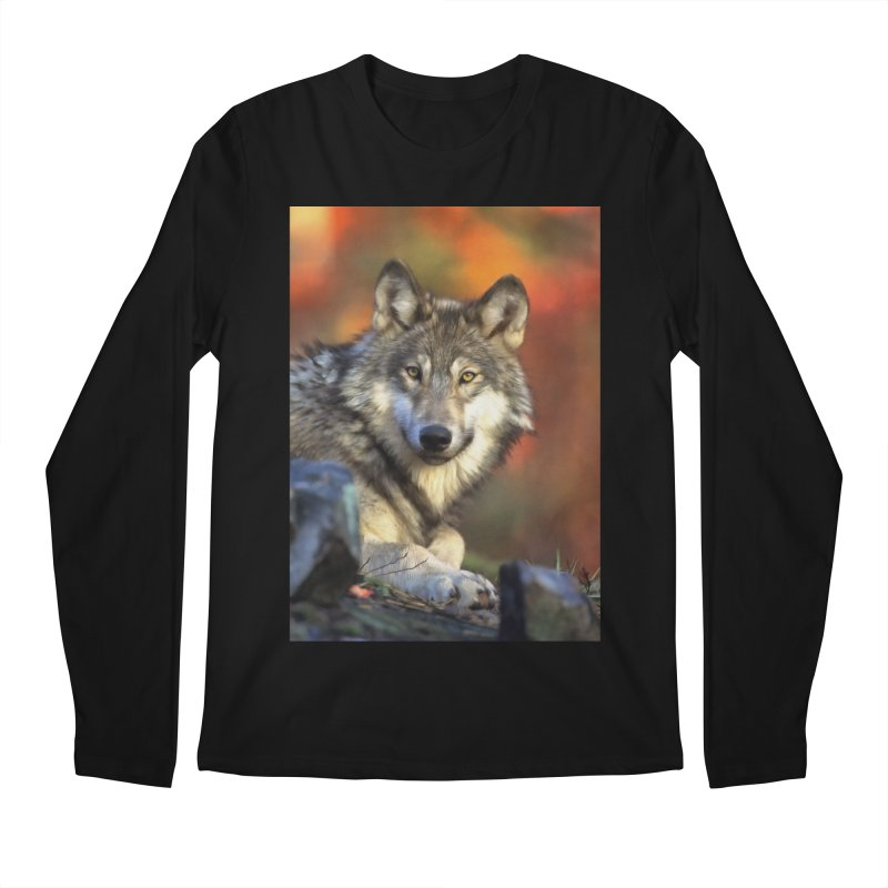 AUTUMN WOLF Men's Longsleeve T-Shirt by Eddie Christian's Artist Shop