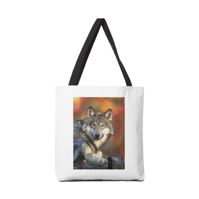 AUTUMN WOLF Accessories Bag by Eddie Christian's Artist Shop