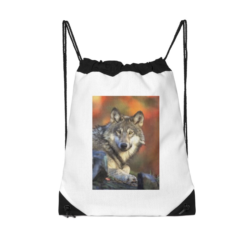 AUTUMN WOLF Accessories Bag by Eddie Christian's Artist Shop