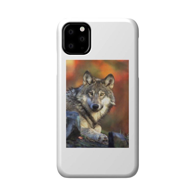 AUTUMN WOLF Accessories Phone Case by Eddie Christian's Artist Shop