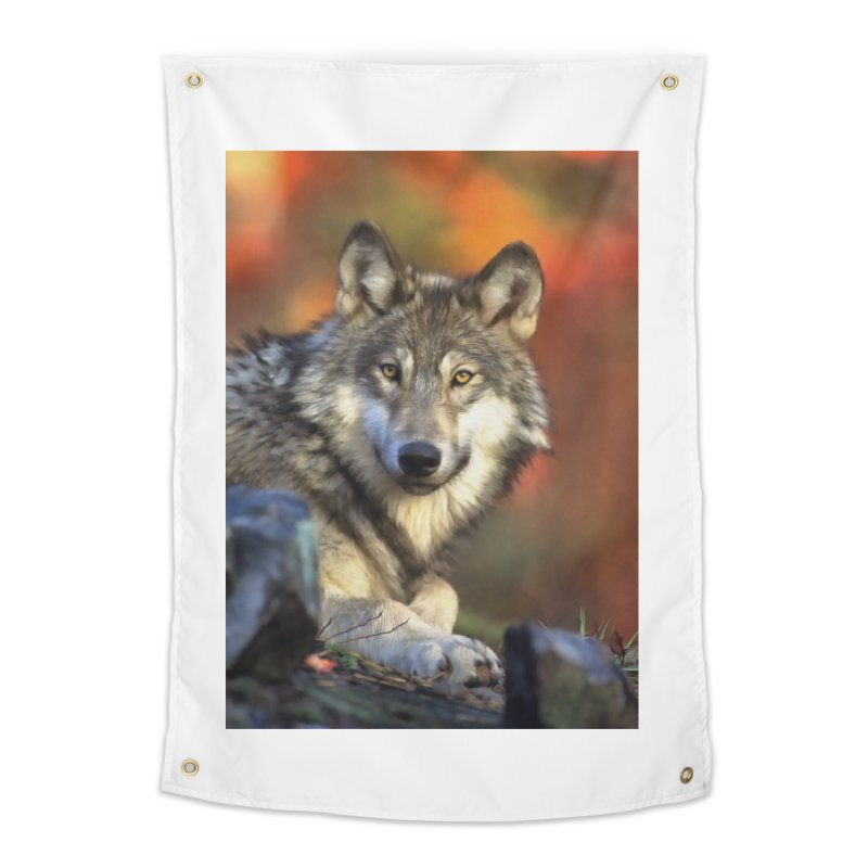 AUTUMN WOLF Home Tapestry by Eddie Christian's Artist Shop